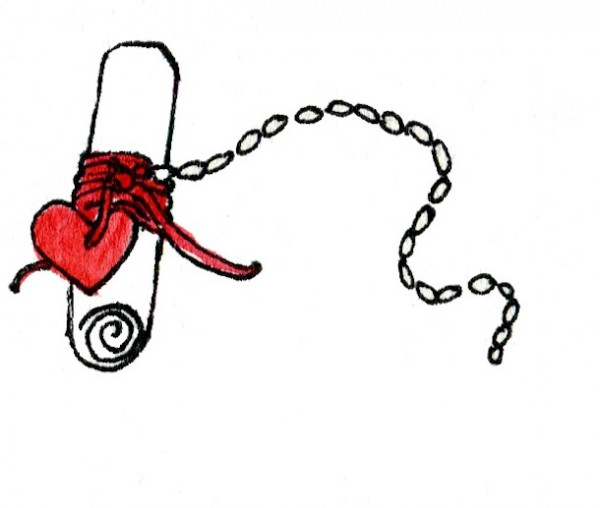ερωτικό μήνυμα μπουκάλι βαλεντίνος αγάπη χειροτεχνία