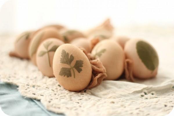 αβγα πασχαλιάτικα φυσικά φύλλα