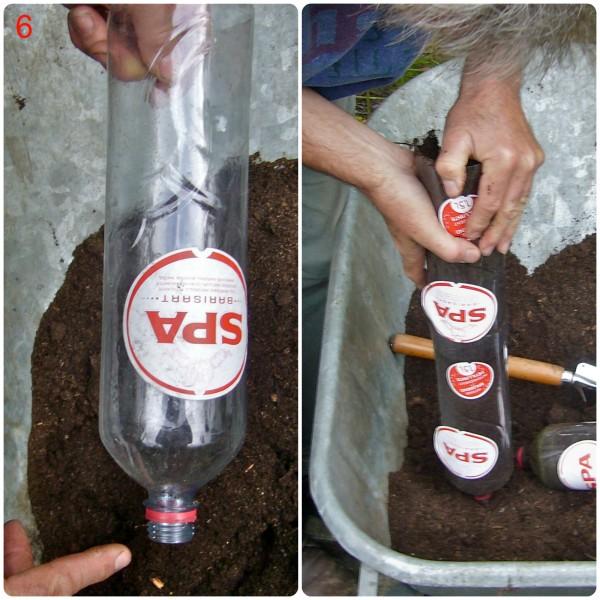 πλαστικά μπουκάλια λαχανόκηπος