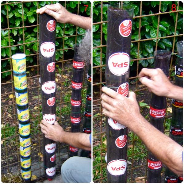 κατακόρυφοι λαχανόκηποι πλαστικά μπουκάλια