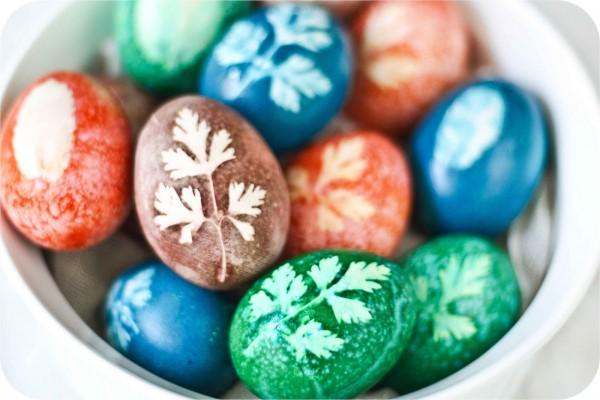 φυτικές βαφές αβγά πάσχα