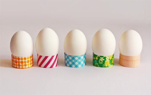 βάσεις για τα πασχαλινά αβγά με washi tapes