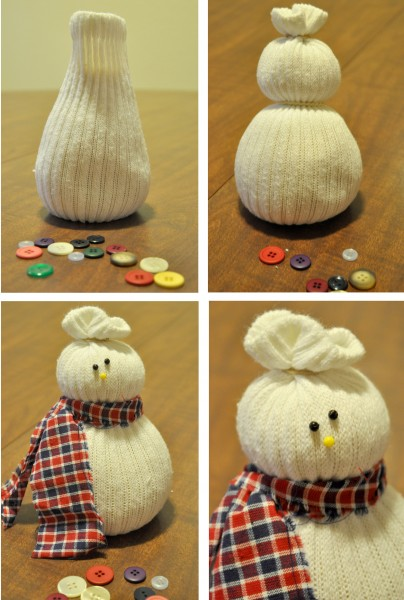 χιονάνθρωπος κάλτσες κουμπιά diy craft χειροτεχνία χριστούγεννα