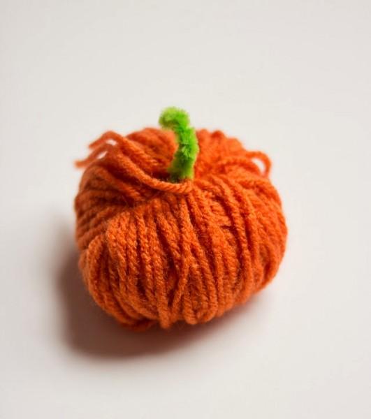 γιρλάντα κολοκύθας μαλλι halloween
